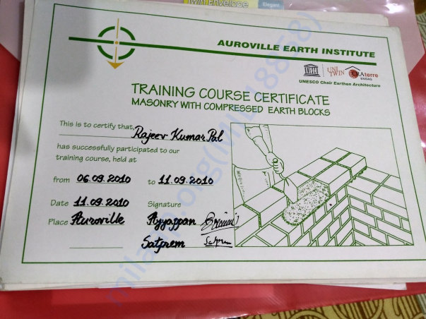 Training Certificate in Eco -Construction
