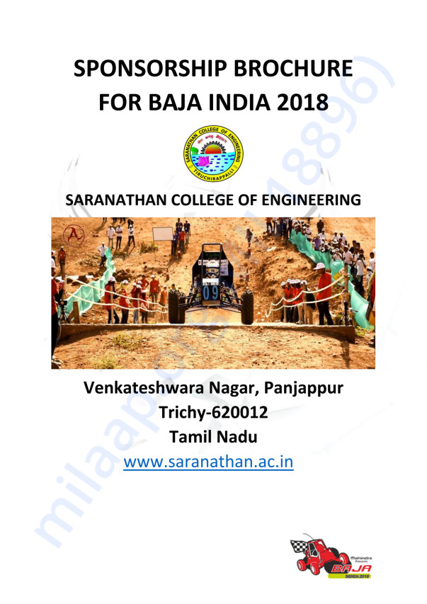 Saranathan E-baja Team Needs Help - Making of BAJA E-Vehicle