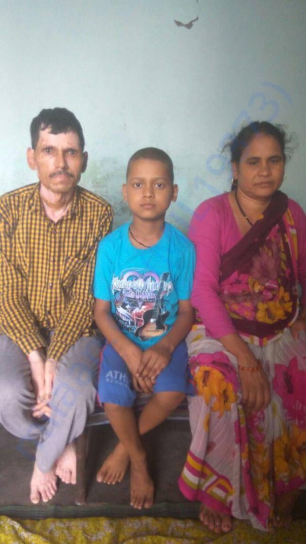 Ayush with his parents