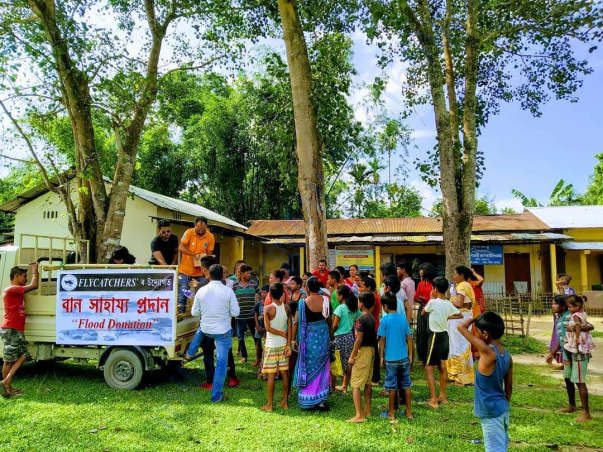 Last Year Flood Relief Campaigns at different locations of Assam