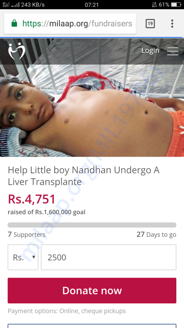 Help Little nandhan
