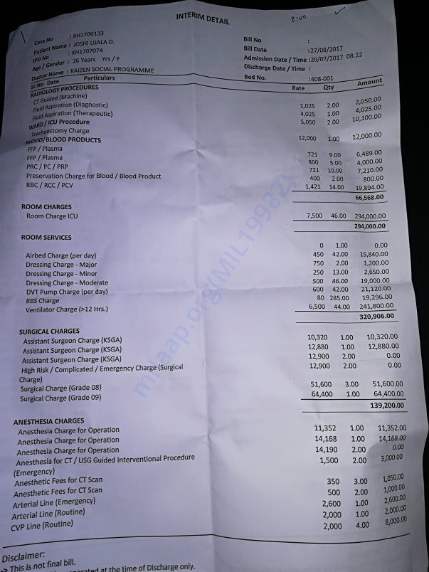Hospital Intrim Bill