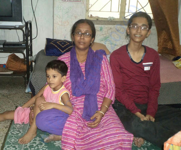 Suman, and two children