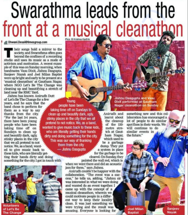 Musical Cleanathon with Swarathma