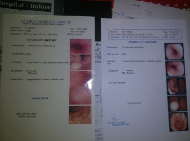 Endoscopy Report from Bombay Hospital Indore