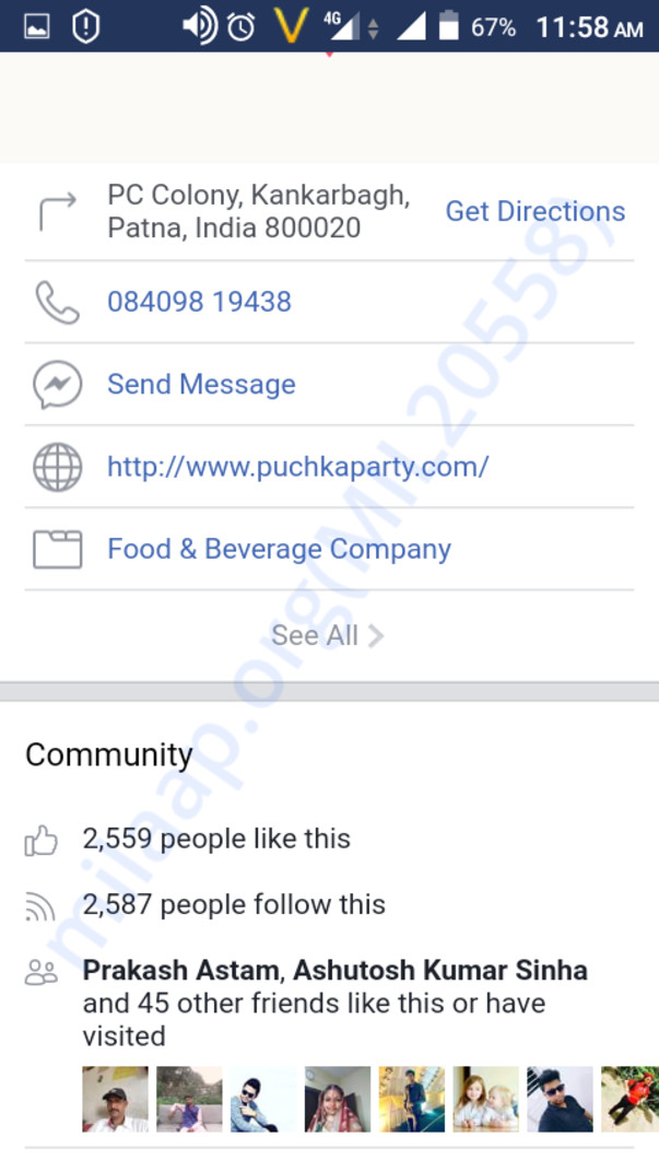 Facebook page with 2500+ likes , https://m.facebook.com/PuchkaParty