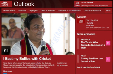 An Interview at BBC World Services.