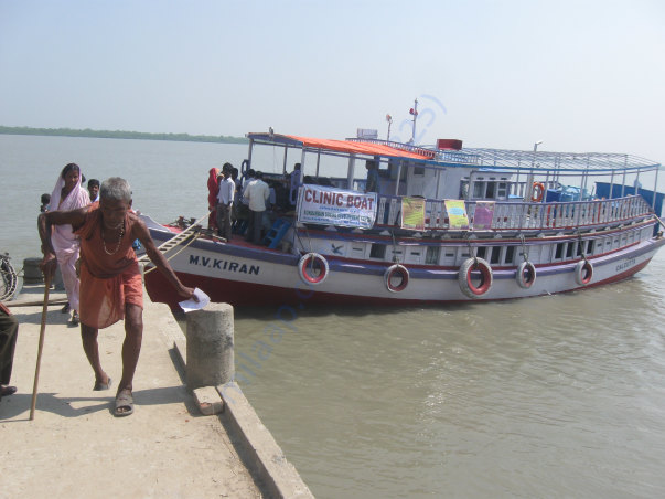How  we  giving Eye care service to the Island  Sundarban by our Boat