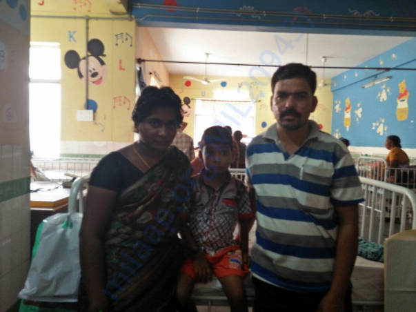 nandhan with his parents