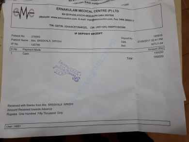 Payment made for Surgery
