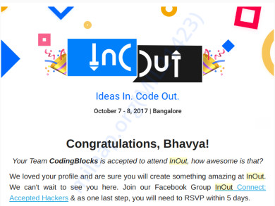 Hack-InOut Acceptance Email