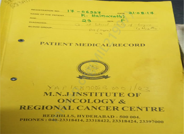 Admit Report MNJ Cancer Center