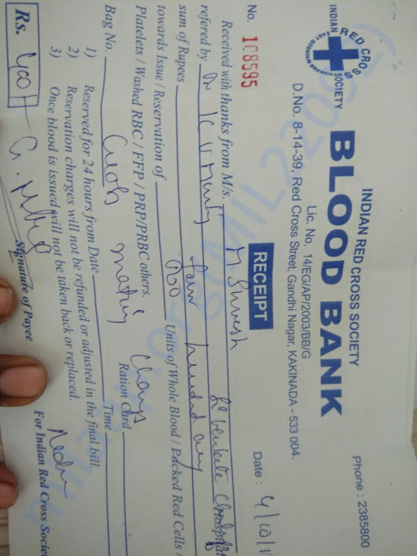 blood report