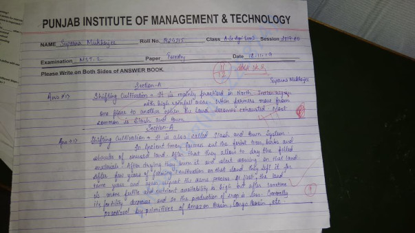 1st mid semester test paper of forestry