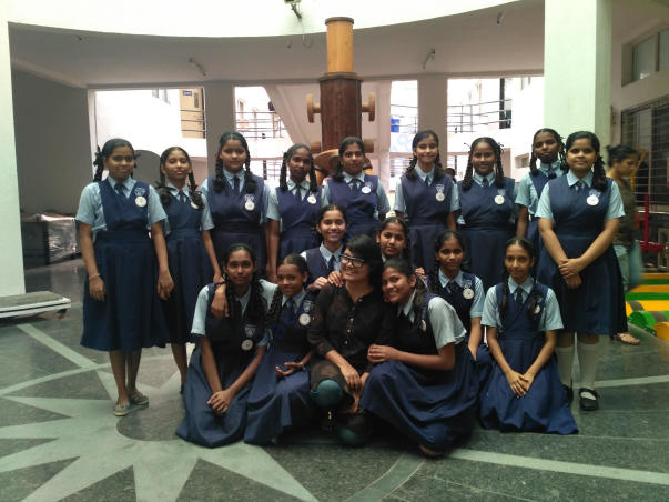 The girls had a session in Pune University