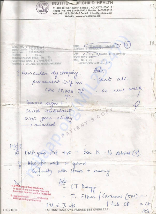 Medical Checkup report