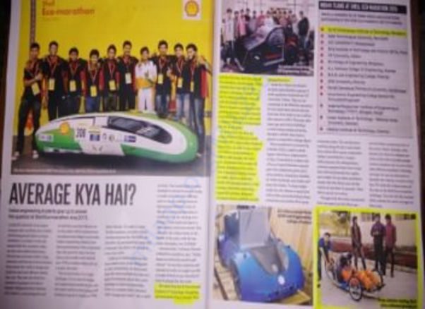 Team Inferno got featured in Auto Car India magazine