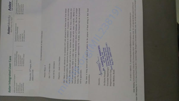Ref letter from Hospital for 6L earlier