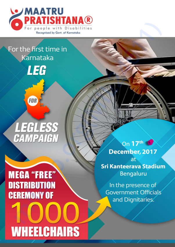 Leg for legless wheelchair campaign