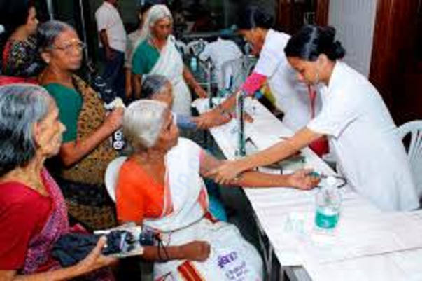 Medical camp for Elderly people