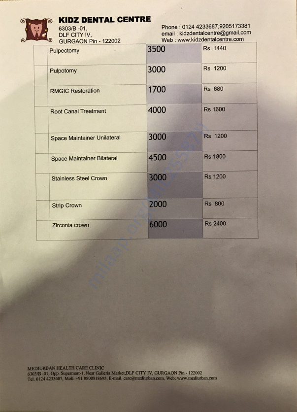 Subsidized Price List For Individual Dental Procedure( List-2)