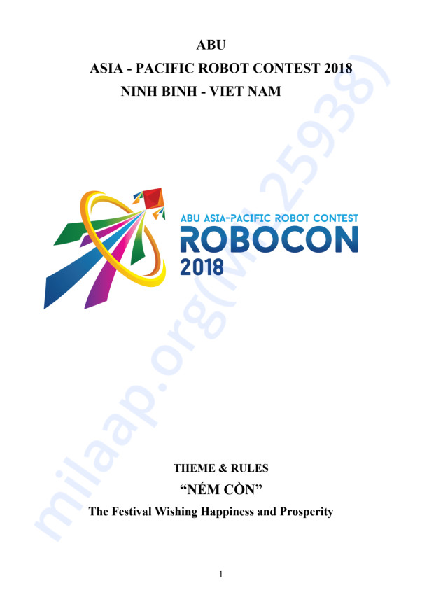 Rulebook of Robocon'18