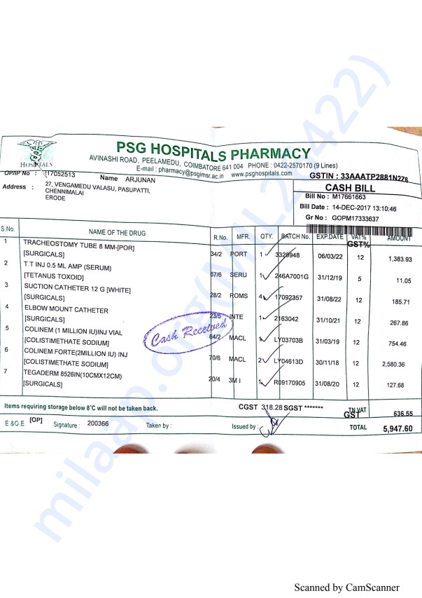 Pharmacy bills 2 14-12
