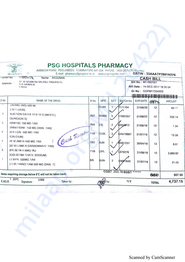 Pharmacy bills 3 14-12