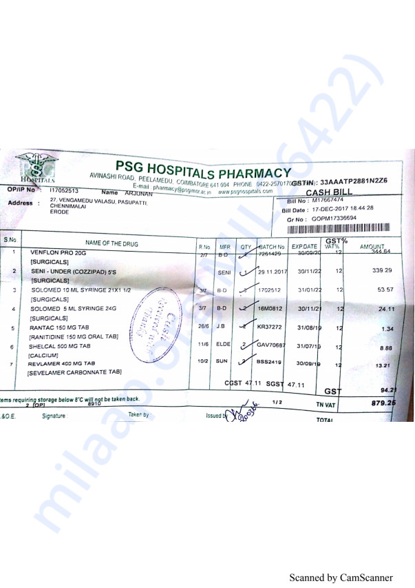 Pharmacy bills 2 17-12