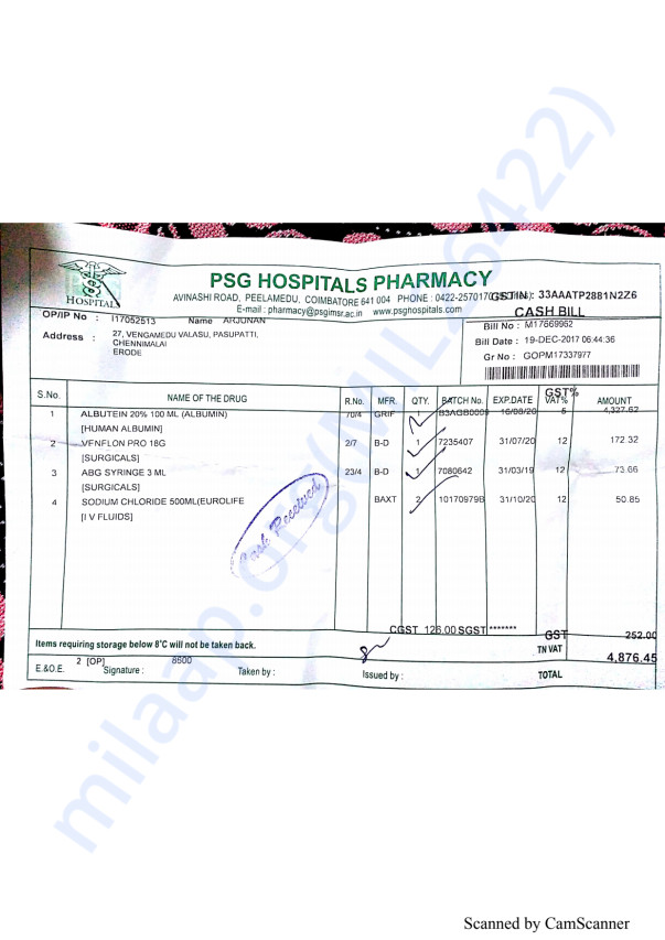 Pharmacy bills 2 19-12