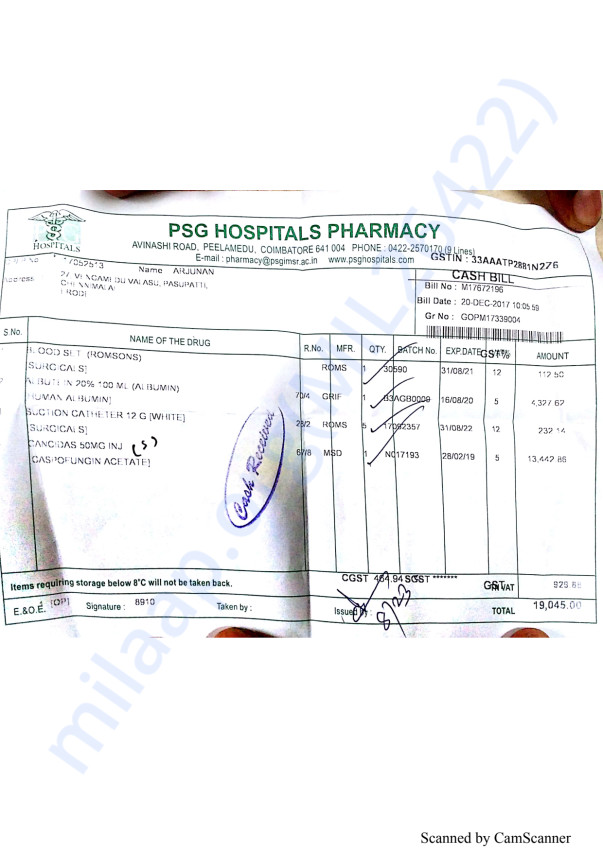 Pharmacy bills 1 20-12