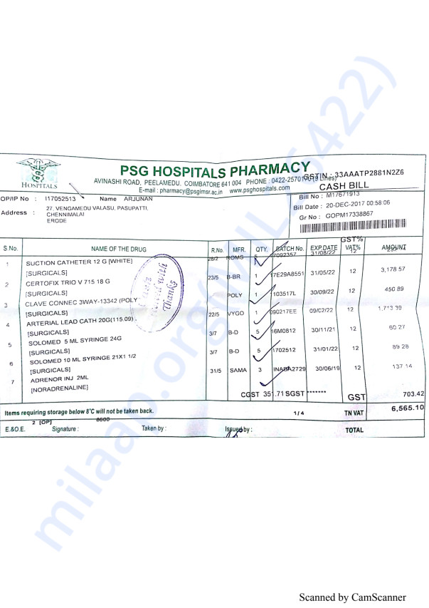 Pharmacy bills 3 20-12