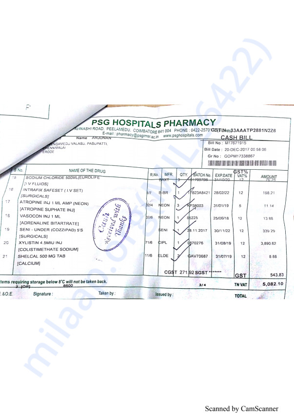 Pharmacy bills 5 20-12