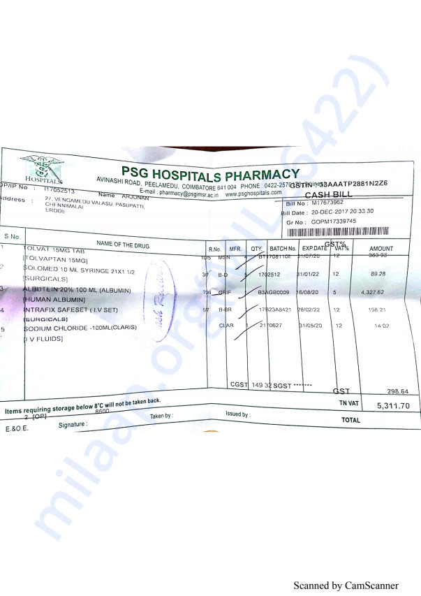 Pharmacy bills 6 20-12