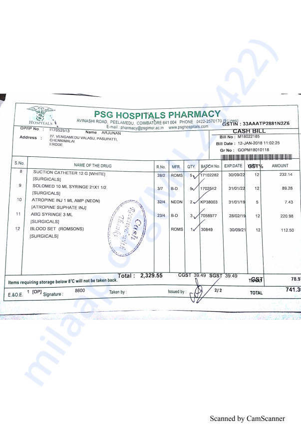 Pharmacy bills Jan part 2