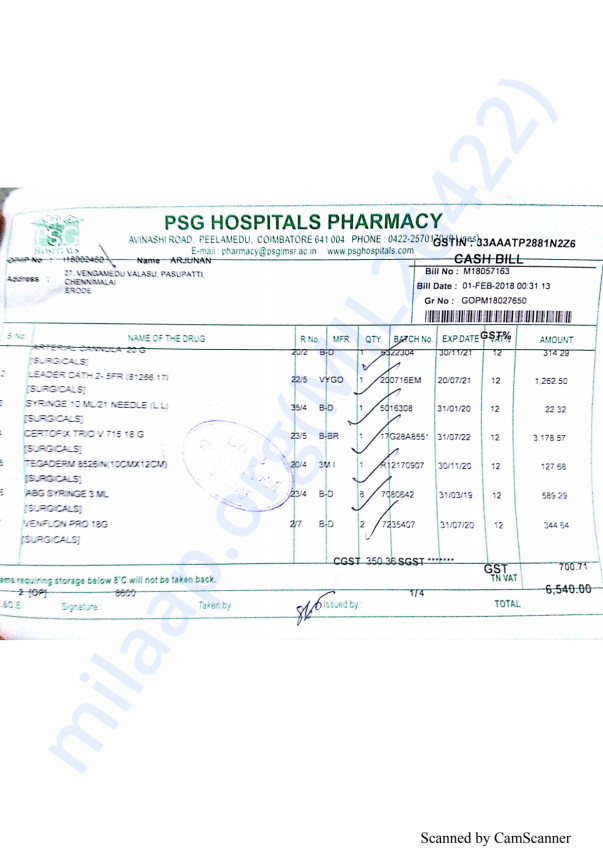Pharmacy bills Feb 1st-1