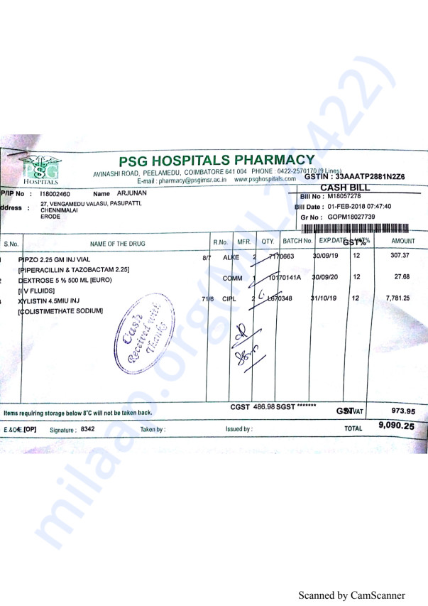 Pharmacy bills Feb 1st-2