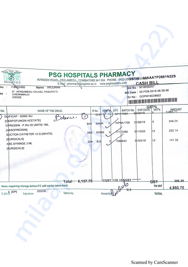 Pharmacy bills Feb 2-1
