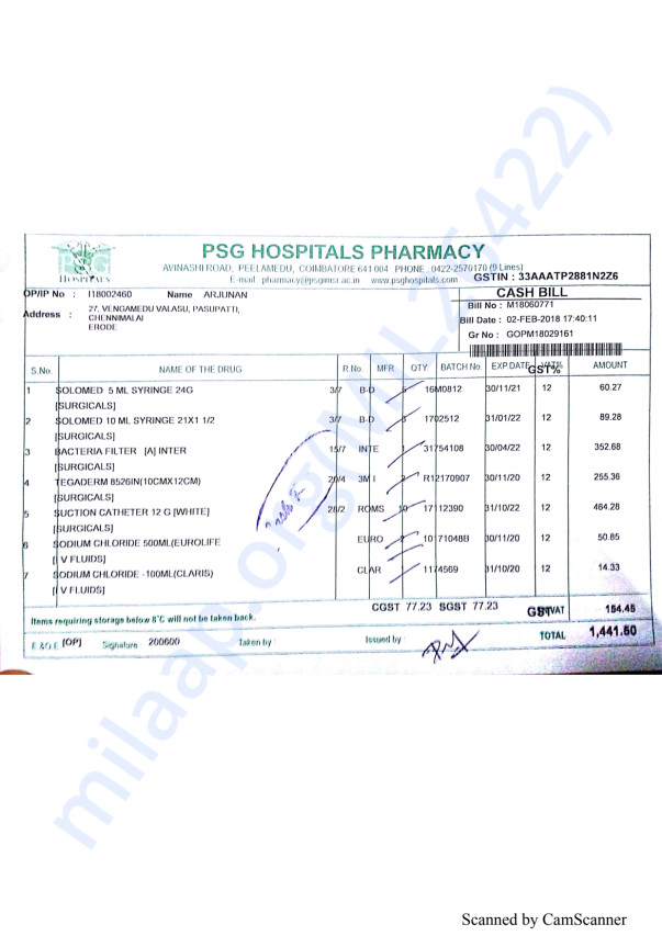 Pharmacy bills Feb 2-3