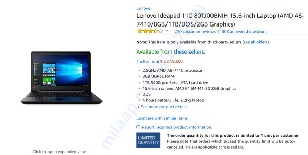 The laptop price