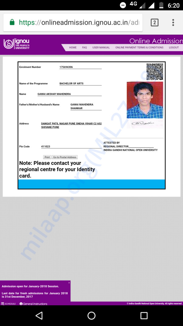 This is my I card of BA (open University )