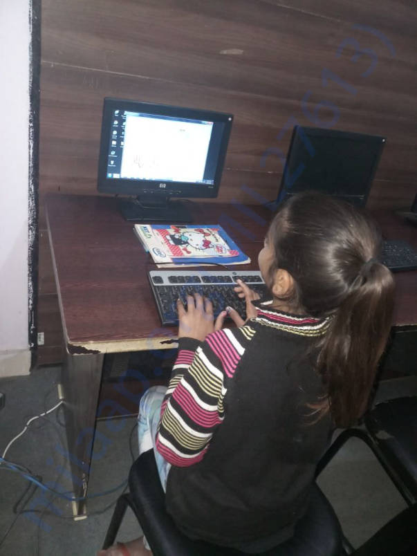 Sanjana has started her Computer Classes.