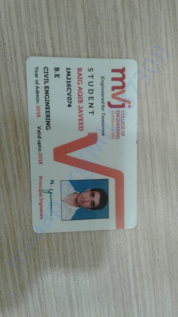 Identity card of the patient