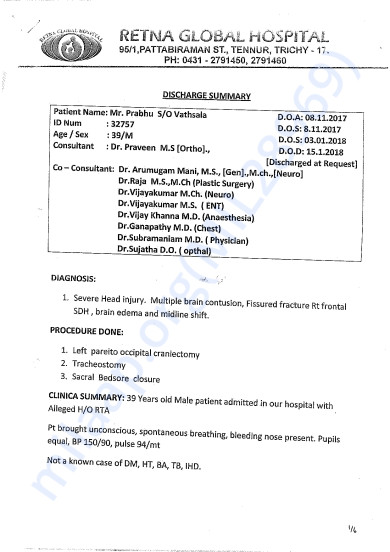 Hospital Discharge Summary