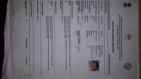 Registered doc of Thalassemia