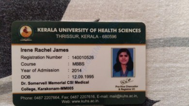 Kerala university of Health Science Identity card