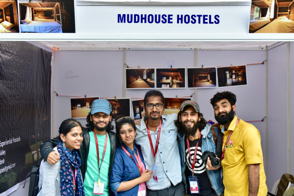 Stall of Mudhouse Hostels in Enterprise Jagriti Mela Bangalore
