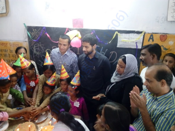DM Lucknow effort to motivate students - Group Birthday Celebration