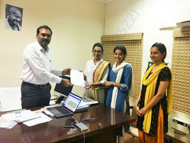 State Project Director (Education), Mr. Nandakumar handing over MoU