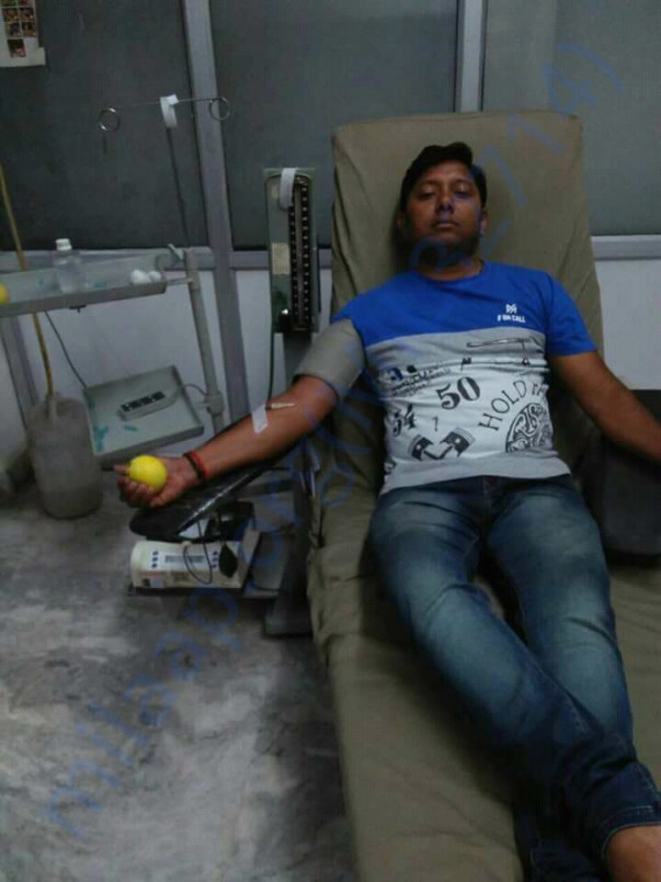Praytna Members Donating blood to Save Life.